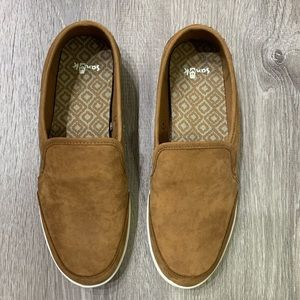 Sanuk Pair O Dice Leather Slip-Ons